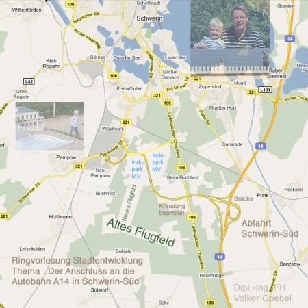 Trassenplanung Autobahn Abfahrt Schwerin-Süd