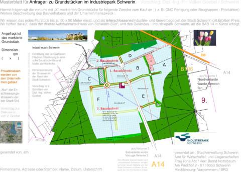 Musterblatt Grundstücksanfrage Industriepark Schwerin-Süd