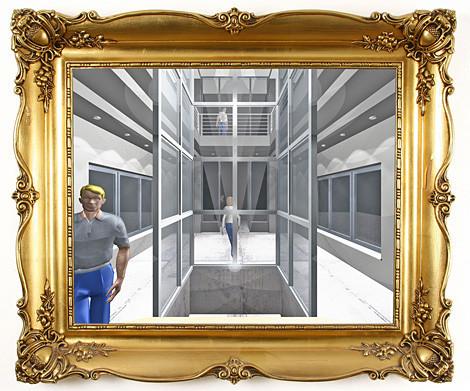 Atrium / Foyer / Eingangsbereich / Umplanung Silos zu Bürotürmen / Ing. Goebel