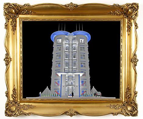 Blick auf die beeindruckenden Bürotürme bei München