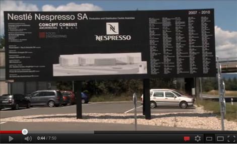 Bauschild Nespresso Fabrik Avenches