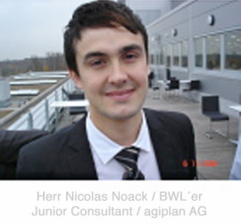 Herr Nicolas Noack / BWLer / Junior Consultant agiplan AG Mühlheim