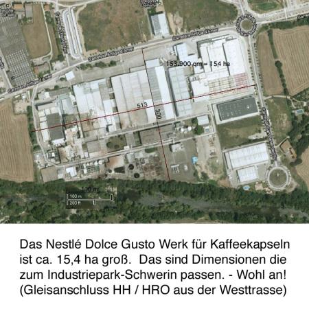 Satellitenbild Nestlé Dolce Gusto Werk Spanien / Google