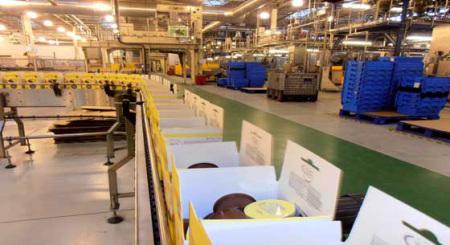 Band und Verpackung im Nestlé Dolce Gusto Werk Tutbury/England
