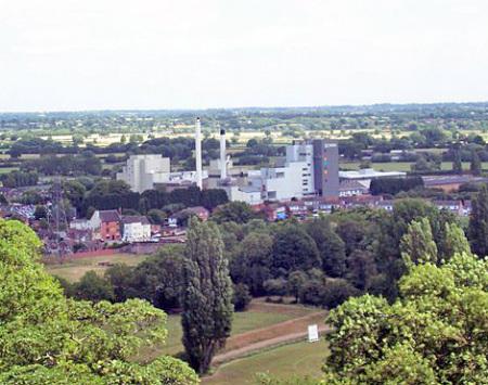 Blick auf die Kaffeefabrik in Hatton / England.