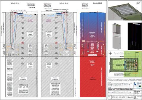 Schnitt Endlager hochradioaktiver Atommüll der Kommission Endlager Deutscher Bundestag Berlin