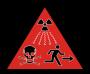 Atommüll Warnhinweis für ein Endlager