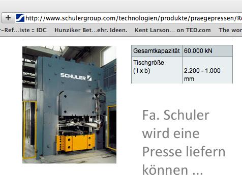 Presse für Versuch 003+ an spent fuel Brennstäben / Atommüll - Kotting-Uhl