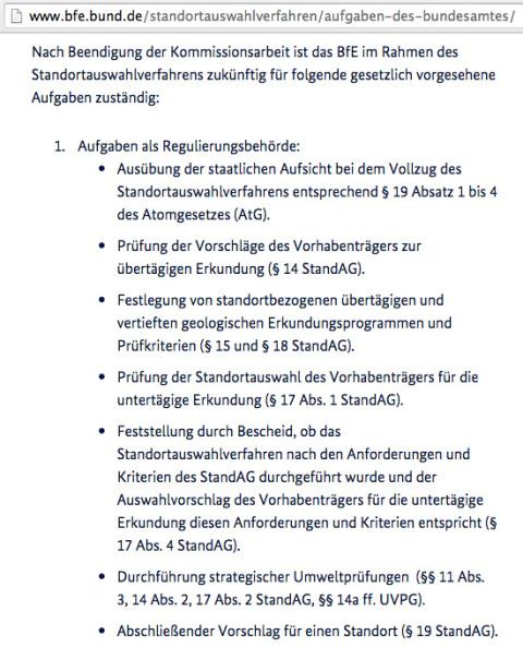 Bundesamt für kerntechnische Entsorgung - Aufgaben des neu geschaffenen Bundesamtes