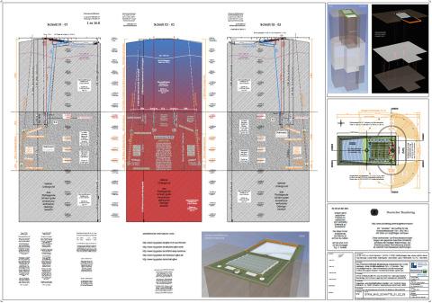 Vorschaubild Zeichnung Endlager GTKW im Tiefsalz Kröpelin / Schnitte