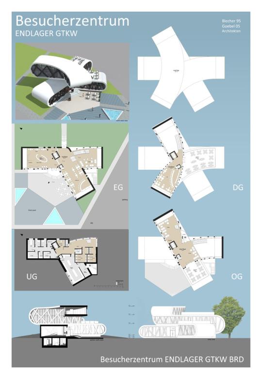 Architektur für ein Besucherzentrum eines Endlagers