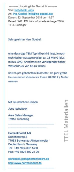 tapferer Herr Ischenbeck - Techniker im Vertrieb der sich abstimmt und gut berät ...