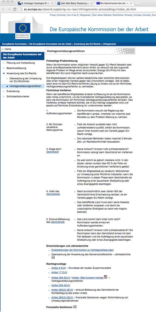 Hinweis an die Kommission Lagerung hoch radioaktiver Abfallstoffe