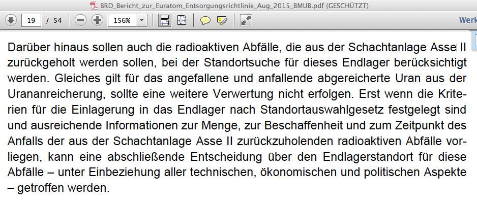 aus BRD Bericht zur Euratom Entsorgungsrichtlinie ...