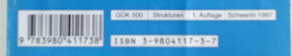 ISBN 3-9804117-3-7 / Schwerin 1997 / M-V / BRD