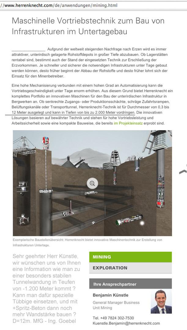 Hinweis an Fa. Herrenknecht und alle interessierten Ingenieure ...