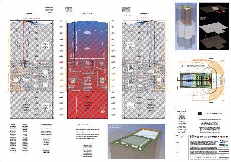 GTKW / Geo Thermie Kraft Werk mit seitlich, tieferem Endlager / HLW, hoch radioaktive Abfallstoffe / südlich Kröpelin M-V BRD