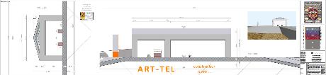 der ART-TEL Tempel mit Architrav - in einer würdigen Grossform gebaut ...