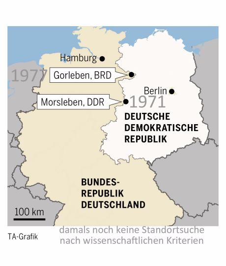 Karte Deutschland Endlager 70 ger Jahre