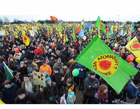 Demonstration vor Ort - da mussten die Teilnehmer erst einmal anreisen ...