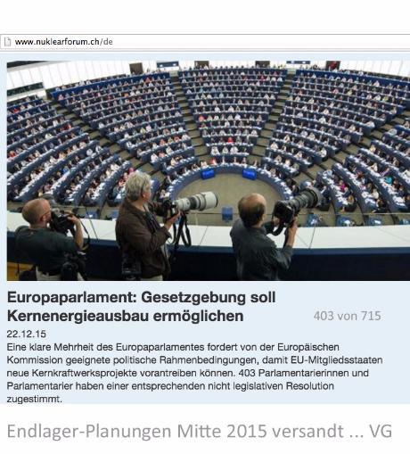Mehrheit im Europa Parlament für die zivile Kernenergie