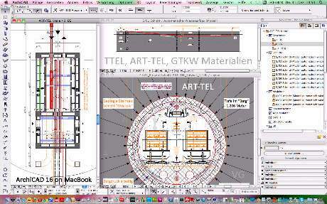 Screenshot Endlager Planung ART-TEL in ARCHICAD von Architekt Volker Goebel Dipl.-Ing.