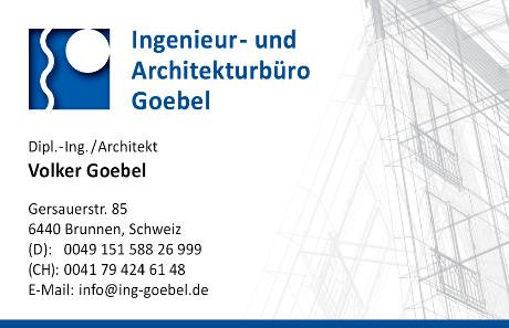 Ingenieur Büro Volker Goebel Gersauerstr. 85 in 6440 Brunnen SZ Schweiz Architekt Dipl Ing