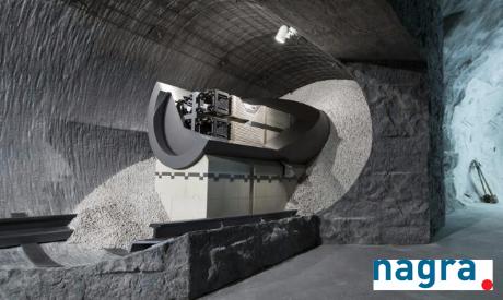 Modell Endlager Tunnel Planung der nagra Schweiz / Bild schlechte Tiefenlager Planung HAA Nagra