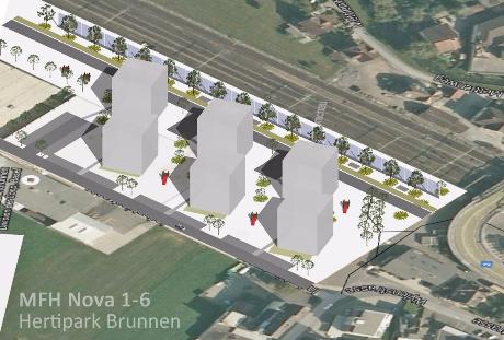 Arealentwicklung Nova Brunnen Hertipark Brunnen MFH Mehrfamilienhaus Stockwerkeigentum