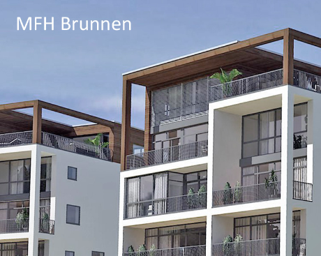 Penthouse Wohnung Nova Hertipark MFH Brunnen Verkauf Vermietung