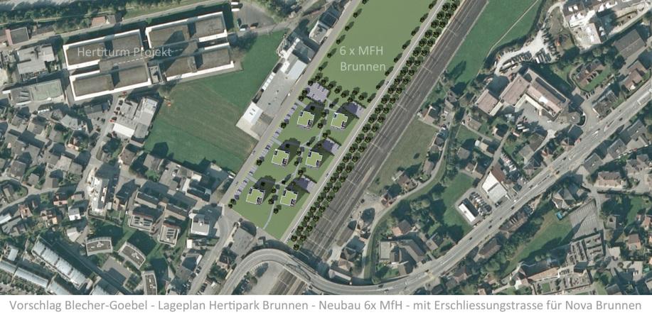 Hertipark AG Nova Brunnen AG Hertiturm AG - Neubau 6 Mehrfamilienhäuser Innenstadt Brunnen Stockwerkeigentum kaufen Appartement mieten
