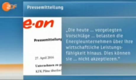 E.ON Pressemitteilung als Reaktion auf KFK Vorschlag