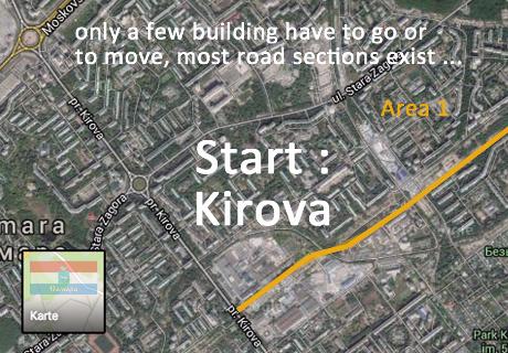 Marx_Motorway_City_Road_Samara_Project_Plan_City_RoadKarl Marx City Road Project Samara - from city center to motorway M5