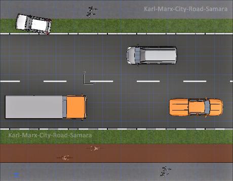 ----- Предварительный проект дорог в центре Самары KARL-MARX-CITY-ROAD TO MOTORWAY SAMARA IN AND OUT (STANDART SHAPE GOOD ?)