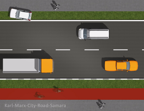 ----- Предварительный проект дорог в центре Самары KARL-MARX-CITY-ROAD TO MOTORWAY SAMARA IN AND OUT (STANDART SHAPE ?)