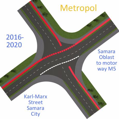 ----- Предварительный проект дорог в центре Самары Samara Metropol Road - Karl-Marx-Street Samara - Samara Road Development