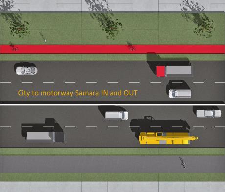----- Предварительный проект дорог в центре Самары