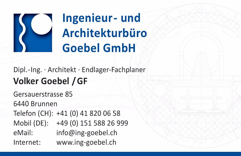 Visitenkarte Endlager Fachplaner Volker Goebel Dipl.-Ing. nuclear repository planner international