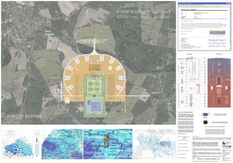Standort Endlager GTKW Deutschland südlich Kröpelin / Baustelle