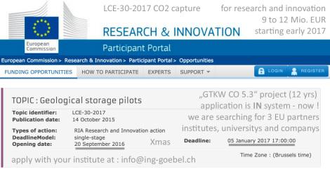 LCE-30-2017 seeks EU based partners