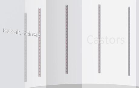 Castor storage in concrete pellets in rocksalt GTKW/DBHD