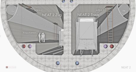 NEAT 2 - A4 Tunnel Schwyz-Tal zu Uri-Tal - Rettungs-Leitern hochgeklappt