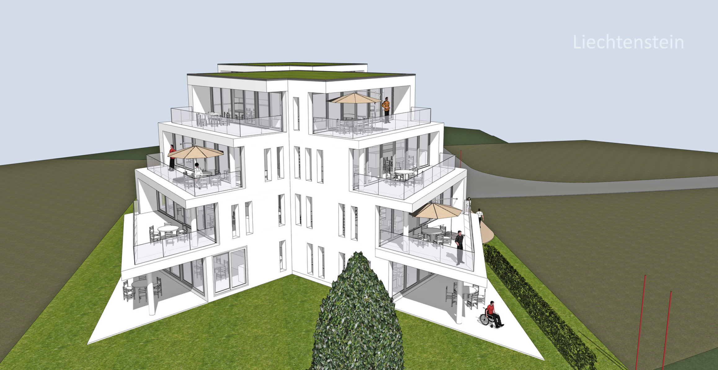 Neubau Mehrfamilienhaus Ruggell Liechtenstein Stockwerkeigentum