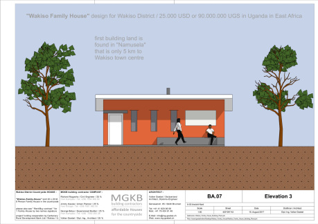 Family House in Wakiso District by MGKB building contractors with rent/buy contract
