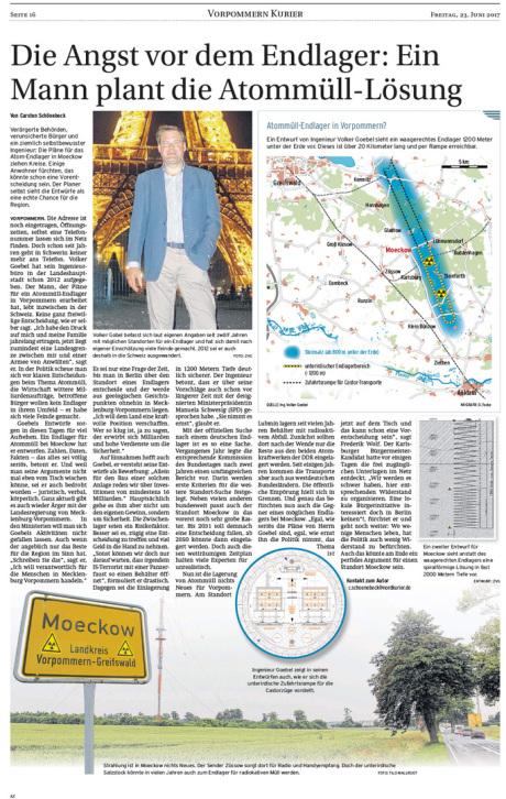 Dipl.-Ing. Volker Goebel / Architekt BGE / Endlager-Fachplaner / nuclear repository planning Germany