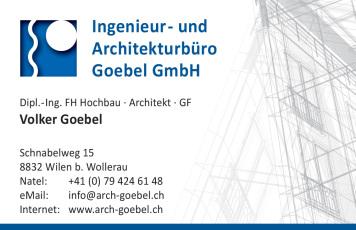 Visitenkarte Architekt Volker Goebel Dipl-Ing Wollerau Schweiz