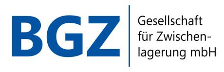 Logo BGZ GmbH Bundesgesellschaft für Zwischenlagerung Essen