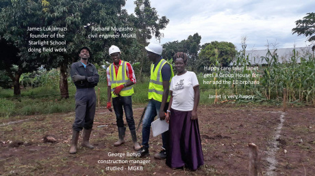 Mark up works on Group House Building site Kiboga
