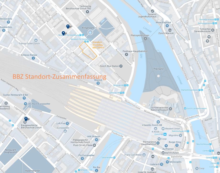 Uebersichtsplan_BBZ_Standort_Zuerich Arch. Goebel