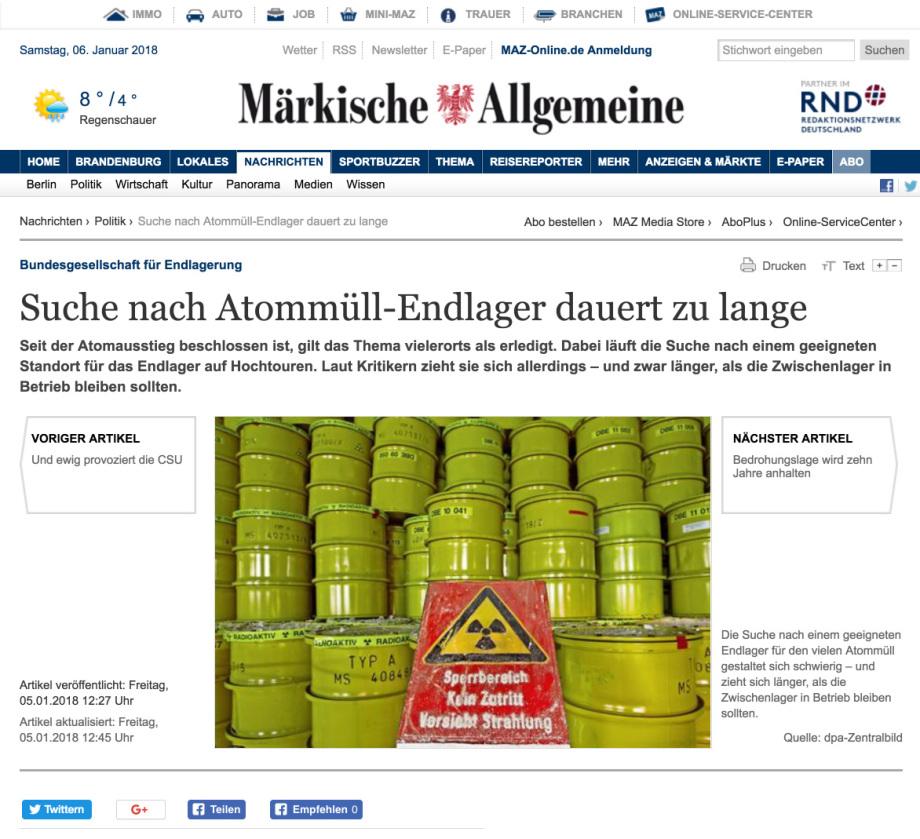Maerkische_Allgemeine_Zeitung_Endlagers_Suche_dauert_zu_lange_Koenig_Heinen_Esser_entlassen